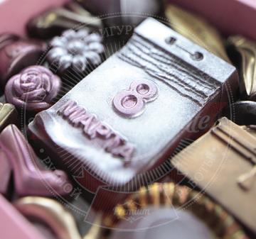 на 8 марта коллегам. Подарки с логотипом. шоколад  с алкоголем. Шоколадный набор ВЕСЕННИЙ