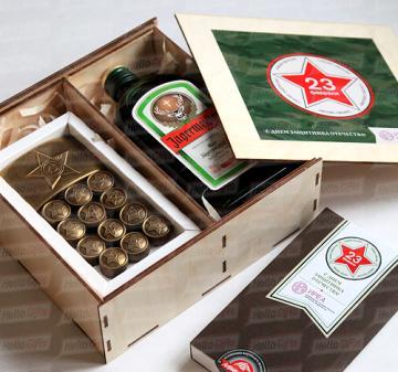 Армейский с алкоголем I Подарки корпоративным клиентам и деловым партнерам на 23 февраля