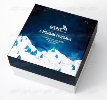 Кашированная упаковка с логотипом компании на заказ Оформление в корпоративном стиле вашей компании.