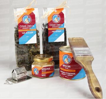 Подарки строителям | Чай  и сладости с логотипом