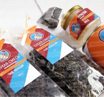 Вкусный и полезный подарок строителям | Чай  и сладости с логотипом