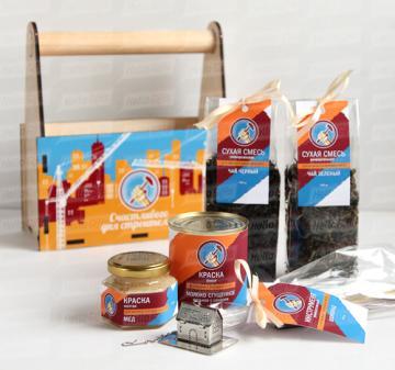 Подарки ко дню строителя | Чай  и сладости с логотипом