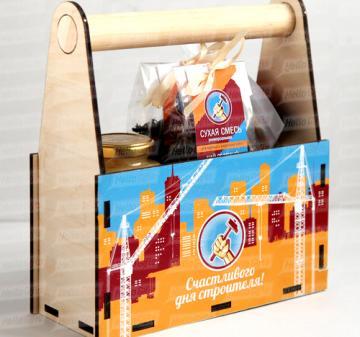 Подарочный набор на 8 марта | Чай  и сладости с логотипом