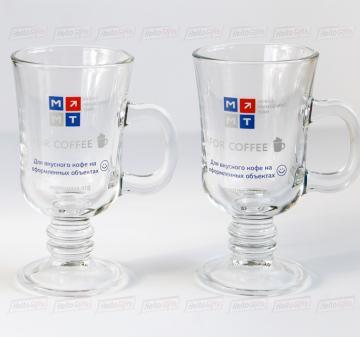 Стеклянная посуда с нанесением логотипа - деколь