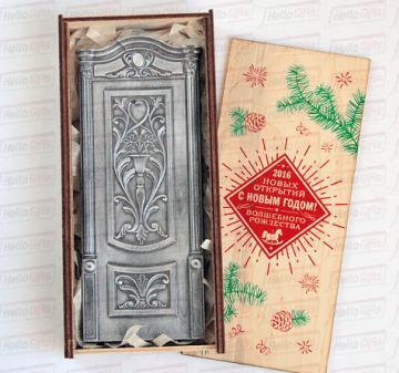 Подарки к Новому 2017 году строителям  |Двери из шоколада | Корпоративные подарки коллегам, партнерам и клиентам  c  логотипом Вашей компании
