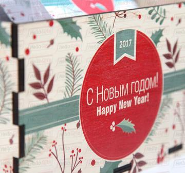Новогодние подарочные корзины коллегам на Новый 2018 год вкусные и полезные подарки.