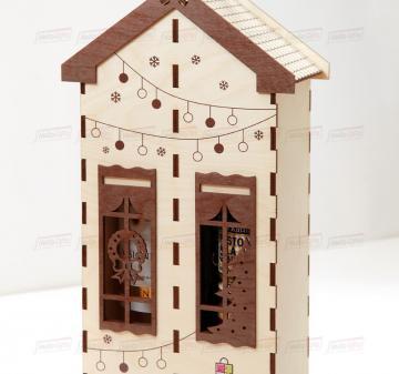 Оригинальная упаковка для корпоративных подарков | Подарочный футляр для вина и продуктового набора из дерева.