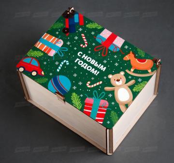 Детская посылка, подарки детям сотрудников | Упаковка-посылка для корпоративных  детских подарков. Оформление в корпоративном стиле компании, брендирование бесплатно.