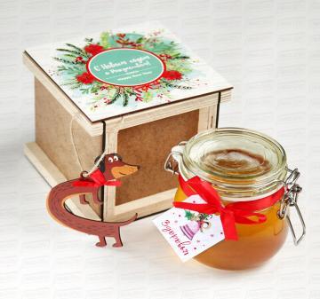 мёд с логотипом |  Новогодние корпоративные подарки клиентам и сотрудникам