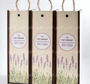 Футляры для  корпоративного подарка оптом от производителя. Производство упаковки из дерева оптом с логотипом компании