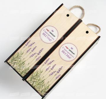Производство упаковки с логотипом. подарки корпоративным клиентам  Подарочная упаковка для вина и крепких напитков из дерева. Внутренний размер: 340х120х120мм.  Изготовим упаковку по вашему ТЗ Минимальный тираж – 30 шт.