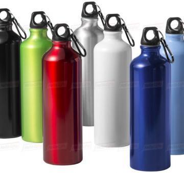 Сувениры с логотипом компании оптом | Бутылка с карабином, объем 770 мл., алюминий (под нанесение логотипа)
