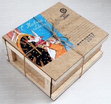 ящик для посылки с логтитипом | http://hellogifts.ru/