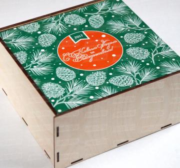 Новогодние  продуктовые подарочные корзины Чай Мёд Сладости | Новогодние подарки 2017 | Подарки коллегам и  бизнес партнерам к Новому году