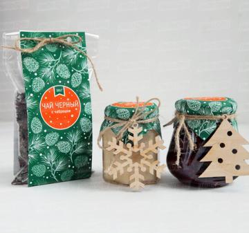 Чай Мёд Сладости | Новогодние подарки 2017 | Подарки коллегам и  бизнес партнерам к Новому году