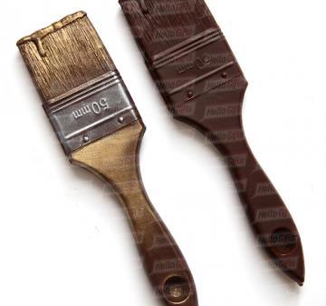 Подарки на День строителя| Кисточка из шоколада| Что подарить строителю | Инструменты из шоколада | № 4 Подарки строителям.