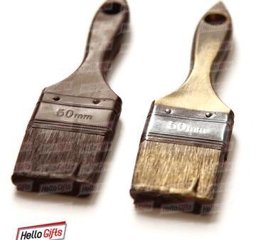 Подарки строителям. Шоколадные инструменты | малярная кисть из шоколада. Инструменты из шоколада | № 4