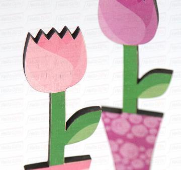 Подарок на 8 марта для Ваших сотрудниц, коллег и клиентов | Тюльпан - цветок  из дерева.   Дизайнерские фигурки и игрушки из дерева для украшения интерьера,  для дома и офиса к празднику.
