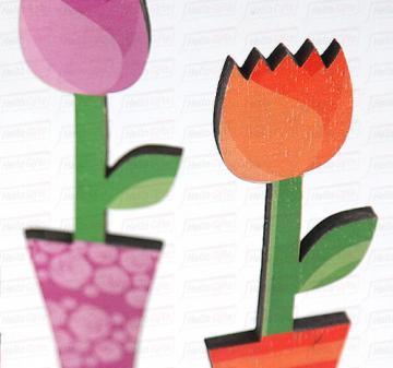 Подарки на 8 марта для коллег и клиентов | Подарок на 8 марта для Ваших сотрудниц, коллег и клиентов | Тюльпан - цветок  из дерева.   Дизайнерские фигурки и игрушки из дерева для украшения интерьера,  для дома и офиса к празднику.