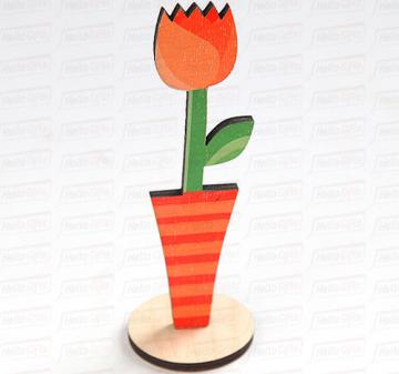 Тюльпан | Декоративная настольная фигурка