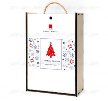 Упаковка для подарков в корпоративном стиле, изготовление