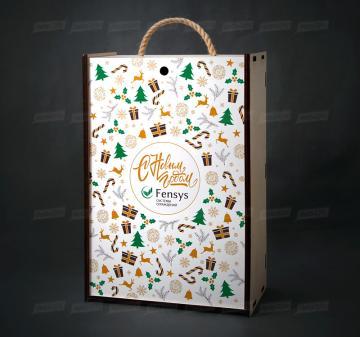 Производство упаковки для продуктовых подарочных наборов из дерева