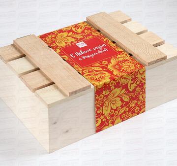 Подарочная новогодняя упаковка на заказ Сувениры оптом