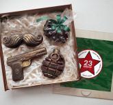 ПОДАРКИ НА 23 ФЕВРАЛЯ  Шоколадный набор БОЕКОМПЛЕКТ «САМИ С УСАМИ»