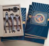 Инструменты из шоколада с логотипом на День машиностроителя | Шоколадный набор инструментов №1 Для настоящих мужчин на 23 февраля