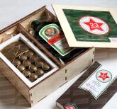 Оригинальные корпоративные подарки на 23 февраля  для мужчин с алкоголем