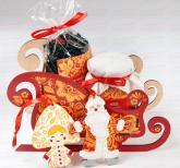Сани деда Мороза в стиле золотая Хохлома | Ёлочные игрушки Дед Мороз и Снегурочка | Корпоративные подарки на Новый год 2019 |  Подарки в русском стиле