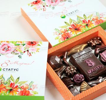 Корпоративные подарки для женщин на 8 марта из шоколада