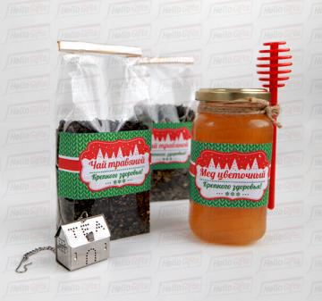 Подарки  с мёдом и чаем