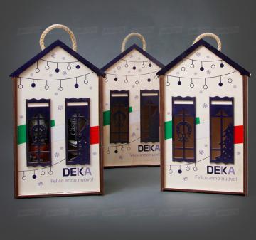 Упаковка из дерева с логотипом компании от производителя | Подарочный футляр для вина и продуктового набора из дерева.