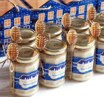 Подарки с мёдом и чаем на Новый год 2022 оптом