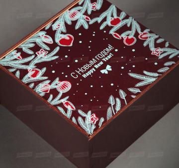 Производство подарочной упаковки из дерева | - Пенал из дерева с полноцветной печатью (брендирование бесплатно). Размер: 22х22х11см
