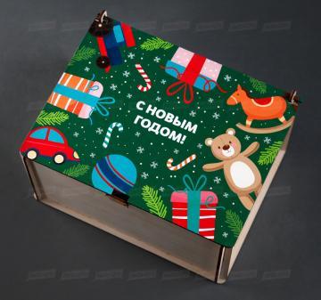 Корпоративные подарки детям сотрудников | Упаковка-посылка для корпоративных  детских подарков. Оформление в корпоративном стиле компании, брендирование бесплатно.
