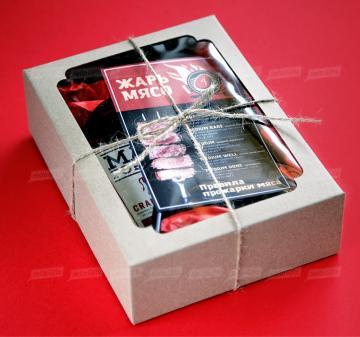 Корпоративные подарки на 23 февраля    | - Термощуп для  жарки мяса - Смесь из пяти видов перца для мяса 60 г. - Соус томатный для барбекю с клюквой 375мл. - Инструкция-подсказка с правилами прожарки мяса-  Размер: 210х155х65мм. Вес подарка: 1100 г. |  корпоративные подарки с логотипом