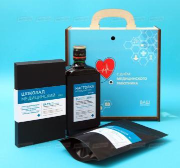 Продуктовые подарочные наборы медикам оптом |Доставка корпоративных подарков в любой регион России | День медика