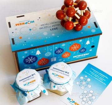 Корпоративный подарок на Новый год для химической компании
