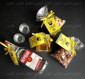 День строителя Подарки деловым партнерам с алкоголем | - Упаковка - ящик деревянный с реечной крышкой. Оформление в фирменном стиле Вашей компании