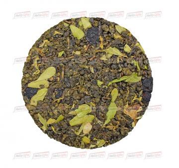 Корпоративные подарки на Новый год 2020 | - Зеленый китайский чай ганпаудер с добавлением ягод брусники, черники, голубики, ежевики, лепестков календулы, василька и брусничного листа 50 гр.