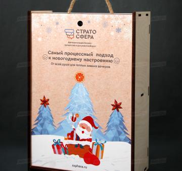 Упаковка для подарков из дерева на Новый год 2021